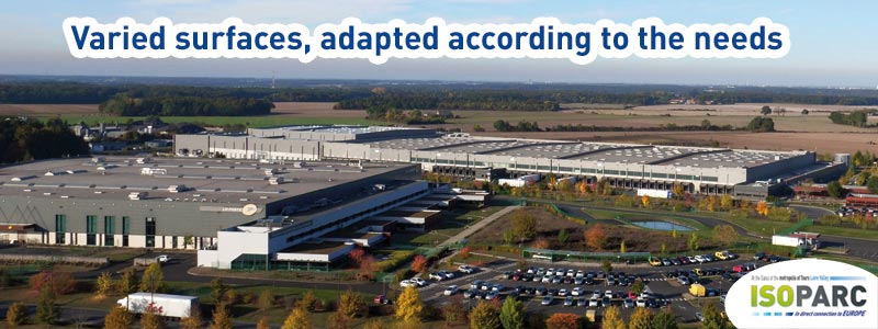ISOPARC, an attractive land offer for all business sectors (logistics, factory, services, production...) in direct connection to Europe, at the gates of the metropolis of Tours Loire Valley France